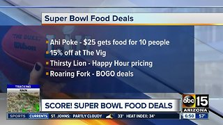 Super Bowl food deals across the Valley