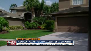 Complaint against HOA foreclosure rental businesses - Video