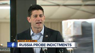 Speaker Ryan 'no comment' on Russia probe indictments - Video