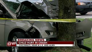 Driver, child hospitalized in Walnut Hills crash - Video