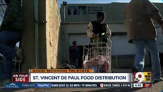 St. Vincent de Paul handing out Thanksgiving meals on Tuesday - Video