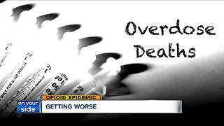 Opioid epidemic: Drug overdose deaths continue to increase, experts say there's no end in sight - Video