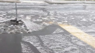 Hailstorms Hit Hamilton - Video
