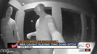 Men caught on camera playing 'Ding Dong Ditch' - Video