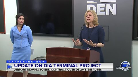 News conference: Denver International Airport moves to end terminal renovation contract with Great Hall Partners