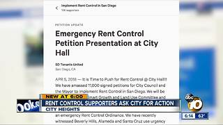 San Diego rent control supporters ask city for action - Video