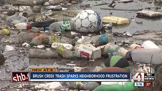 Community calls for city to clean up Brush Creek - Video