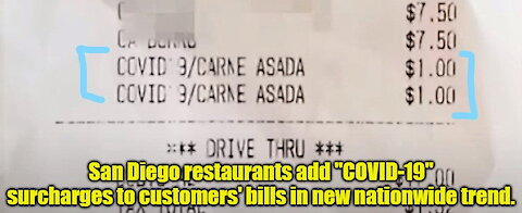 "San Diego restaurants add ""COVID surcharge"" to customers meal tabs"