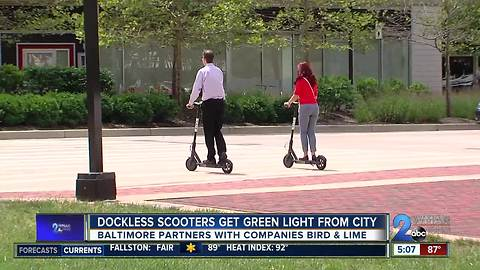 Baltimore City gives green light to dockless scooters; pilot program replaces bike share
