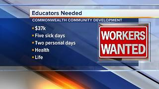 Teachers needed for Commonwealth Community Development Academy - Video