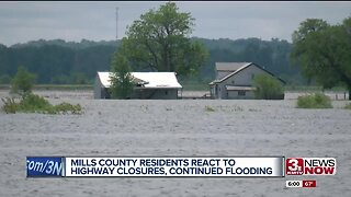 Mills County residents react to highway closures