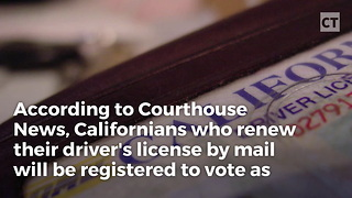 Illegals Could Get to Vote Under Cali Program - Video