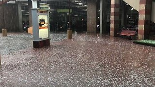 Tennis Ball-Sized Hail Stones Fall in Boulder, Colorado - Video