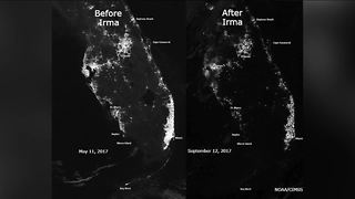Satellite image illustrates Florida power outages after Irma - Video