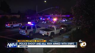Police shoot and kill armed man with knife - Video