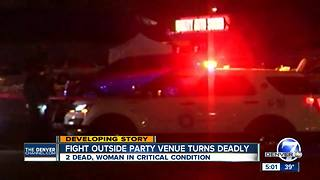 Two men killed, woman injured in east Denver parking lot shooting overnight - Video