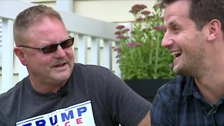 Neighbor vs. neighbor: They're politically divided, but still united in friendship