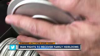 Man gets one of a kind family heirlooms back after more than a year - Video