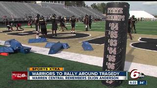Warren Central Warriors to rally around the loss of senior Dijon Anderson this season - Video
