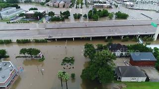 Drone footage shows scale of Houston flooding - Video