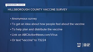 Hillsborough County wants your opinion on the upcoming COVID-19 vaccine