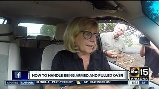 What to do if you're armed and pulled over by an officer - Video
