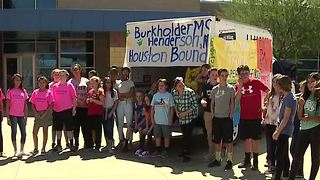 Henderson's Burkholder Middle School collects items for Harvey flood victims - Video