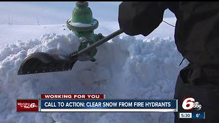 Call to action: Clear snow from fire hydrants - Video