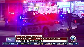 Victim fatally shot near Hypoluxo Food Mart - Video