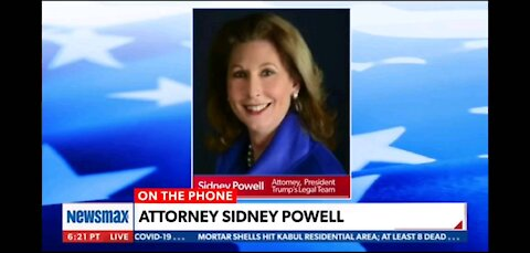 Sydney Powell Newsmax Interview Powell pt 1