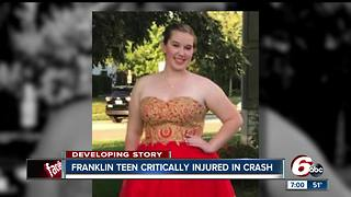 17-year-old critically injured after semi hit the SUV she was a passsenger in Friday night - Video