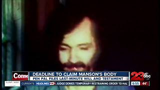 Pen pal files last minute claim on Charles Manson's body - Video