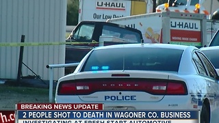 2 People Shot to Death in Wagoner County Business - Video