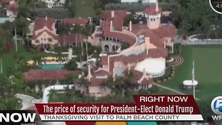 The price of security for President-Elect Donald Trump - Video
