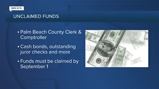 Thousands of dollars in unclaimed funds in Palm Beach County