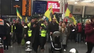 Manchester's Piccadilly Station Closed As Protesters Storm Tracks - Video