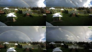 Timelapse of Beautiful Rainbow in Mexico - Video