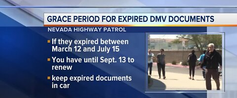 Grace period for expired DMV documents