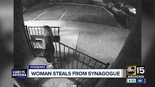 Woman steals from Phoenix synagogue - Video