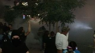 Police Deploy Tear Gas Against Phoenix Protesters - Video