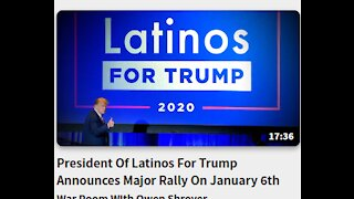 President Of Latinos For Trump- Announces Major Rally On January 6th