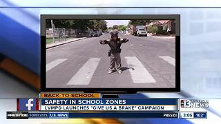 LVMPD launches new back-to-school safety campaign - Video