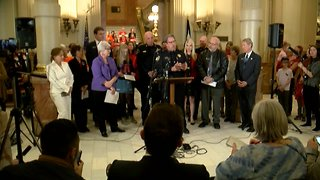 Full news conference: Colorado Democrats, law enforcement officers unveil new red flag gun violence bill