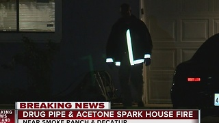 Drug pipe, use of flammable caused fire near Smoke Ranch, Decatur