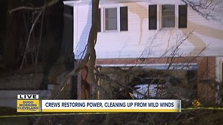 Massive tree falls onto Cleveland Heights home