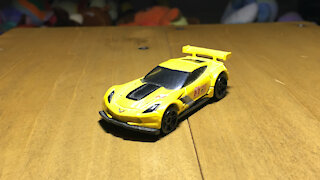 Awesome Hot Wheels Car Corvette C7.R (2015 Mainline Livery)