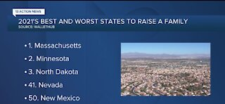 Nevada ranks 41 in worst states to raise a family