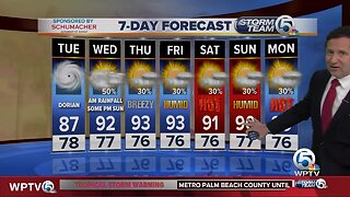 Latest Weather Forecast 5 a.m. Tuesday