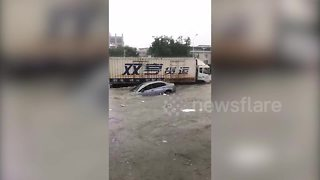 Powerful rainstorm floods city in southern China - Video