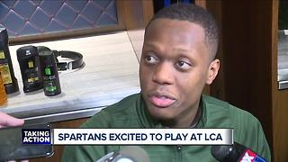 Spartans excited to play in front of friends & family at Little Caesars Arena